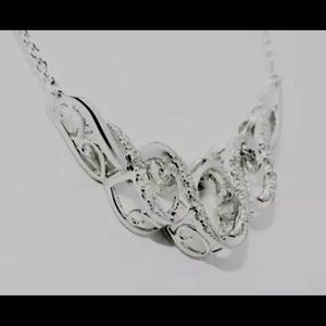 14KT White Gold & Half a Ct. Diamonds Necklace